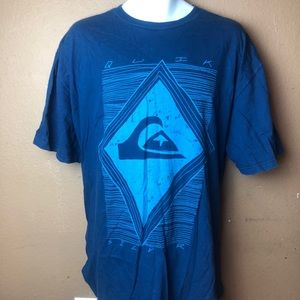 Quiksilver Blue Graphic T-Shirt XXL